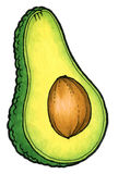 Avocado na biały tle Obraz Royalty Free