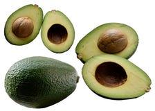 Avocado na białym tle. Zdjęcie Stock