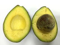 Avocado na białym tle Zdjęcie Royalty Free