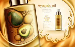 Avocado oil ad Stock Photography