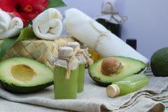 Avocado oil body scrub Royalty Free Stock Photos
