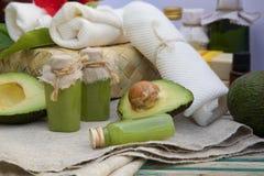 Avocado oil body scrub Stock Photography