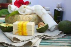 Avocado oil soap Stock Image