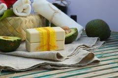 Avocado oil soap Royalty Free Stock Photography