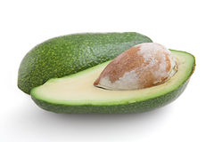 Avocado-oily nutritious fruit, isolated, macro Stock Photography