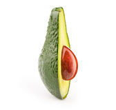 Avocado with oily stone. On white, with clipping path Stock Photography
