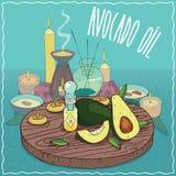 Avocado olej używać dla aromatherapy Zdjęcie Royalty Free
