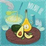 Avocado olej używać dla gotować Obrazy Stock