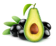 avocado and olives Royalty Free Stock Images