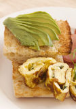 Avocado With Omelette Royalty Free Stock Images