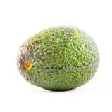 Avocado op wit wordt geïsoleerd dat Stock Afbeeldingen