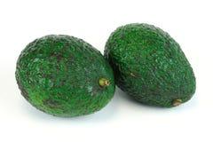 Avocado op witte achtergrond royalty-vrije stock fotografie