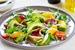 Avocado with Orange and Beetroot salad Royalty Free Stock Photography
