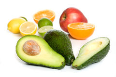 Avocado and other fruit Stock Photography