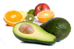 Avocado and other tropical fruit Royalty Free Stock Image