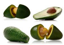 Avocado over white Royalty Free Stock Image