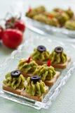 Avocado paste on toast Royalty Free Stock Image
