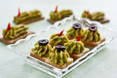 Avocado paste on toast Stock Photo