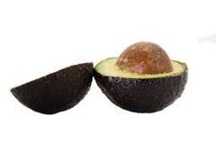 Avocado pear. Split avocado pear isolated on white Stock Images