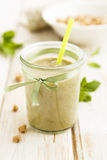 Avocado and pear smoothie Royalty Free Stock Photography