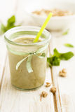 Avocado and pear smoothie Royalty Free Stock Images