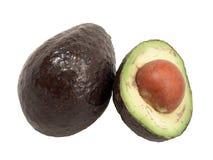 Avocado Pears. Macro view of avocado pears showing creamy flesh stock image