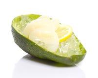 Avocado with perch sashimi Stock Image