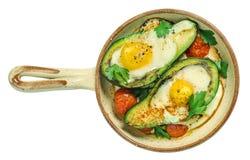 Avocado piec z jajkiem Obrazy Royalty Free