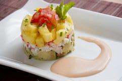 Avocado and Pineapple Salad Stock Photo