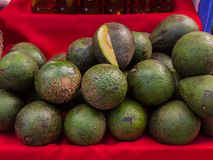Avocado placed on the market. Royalty Free Stock Photos