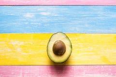 Avocado połówka cutted zdjęcia royalty free