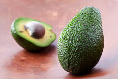 avocado połówki obraz stock