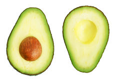 avocado pokrajać dwa Fotografia Stock