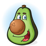 Avocado postać z kreskówki Fotografia Stock