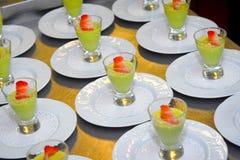 Avocado pudding healthy dessert Stock Photo