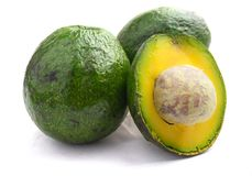 Avocado qua bo Vietnam. Avocado is famous in highland areas in Vietnam such as Dalat, Tay Nguyen, Lam Province... Ripe avocados that yield to gentle pressure stock images
