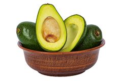 Avocado, raw, ripe, vegetable, isolated, copy space stock photos