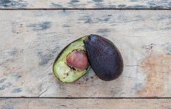 Avocado rot on wooden floor. Stock Photography