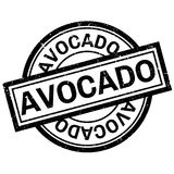 Avocado rubber stamp Stock Image