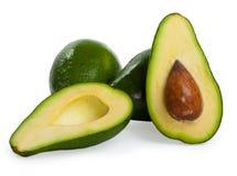 Avocado's die op een witte achtergrond worden geïsoleerdv Stock Foto's
