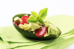 Avocado salad Stock Photo