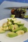 Avocado Salad. Chopped avocado prepared for salad, shallow depth of field Royalty Free Stock Image