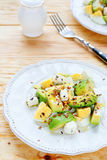 Avocado salad with feta Stock Images