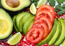 Avocado Salad Stock Photography