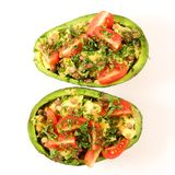 Avocado salad isolated royalty free stock image