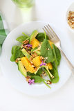 Avocado salad with orange Royalty Free Stock Image