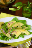 Avocado salad with pineapple Royalty Free Stock Images