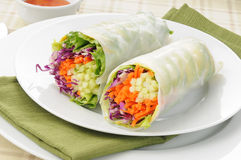 Avocado salad roll Royalty Free Stock Images