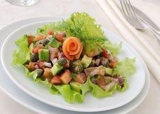 Avocado salad with salmon Royalty Free Stock Photos
