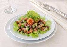 Avocado salad with salmon Royalty Free Stock Photo
